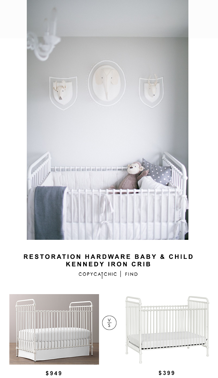 Restoration Hardware Baby & Child Kennedy Iron Crib for $949 vs Wayfair Franklin & Ben Abigail Crib for $399 Copy Cat Chic luxe living for less budget home
