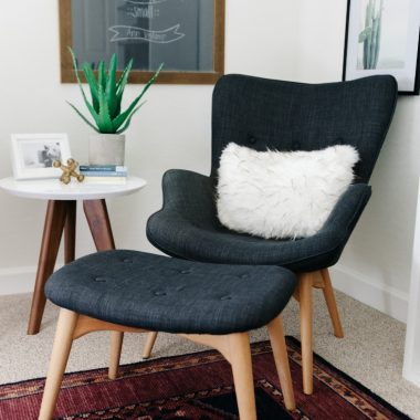 Kardiel Grant Featherston Contour Style Wing Chair and Ottoman $846 vs Canyon Vista Mid-Century Wingback Chair and Ottoman $286  mid century wingback chair look for less copycatchic luxe living for less budget home decor and design daily finds