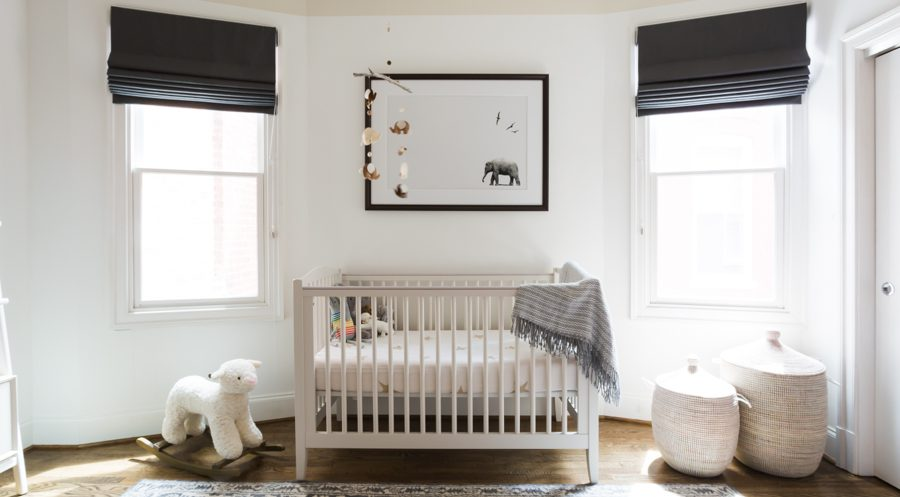 A modern, neutral nursery design and decor for both boys or girls | copycatchic luxe living for less budget home decor and design