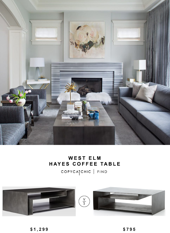 West Elm Hayes Coffee Table For 1299 Vs Living Spaces Cyprus Cocktail Table For 795 Copycatchic