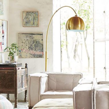 Pacific Coast Basque Gold Arc Lamp