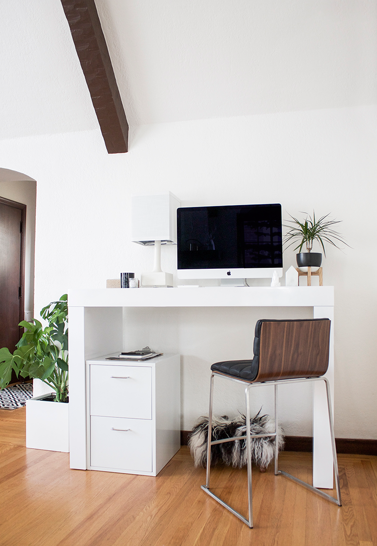 A Chic Home Office With Standing Desk From Hayneedle
