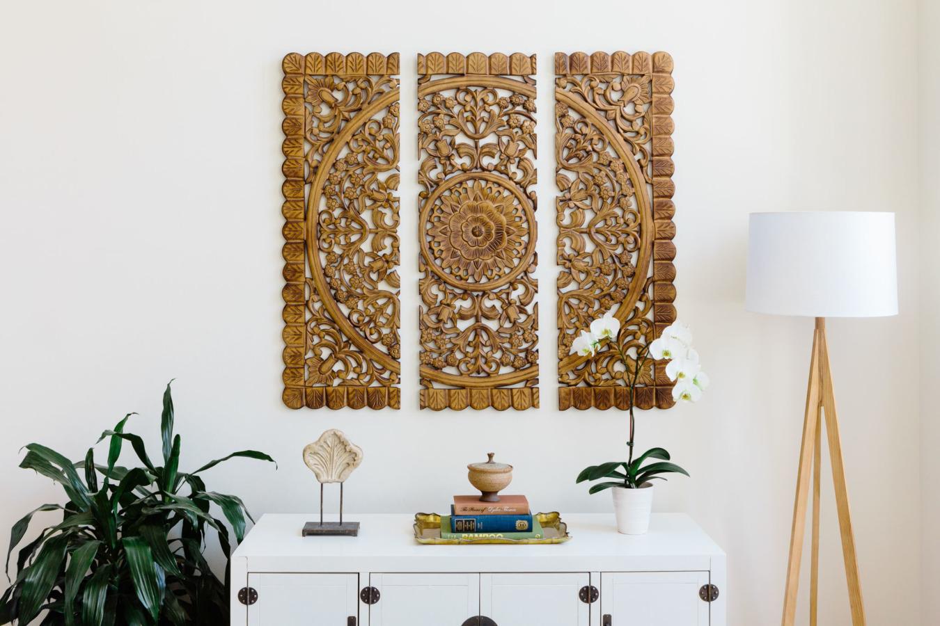 woodland imports 3 piece wall decor set copy cat chic. Black Bedroom Furniture Sets. Home Design Ideas