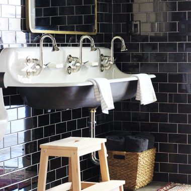 Catalina Black Ceramic Subway Tile