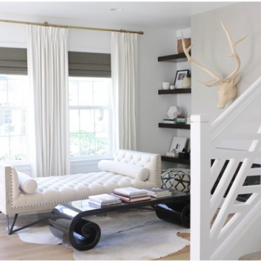 West Elm Oversized Adjustable Metal Rod for $159 vs Umbra Cappa Adjustable Window Curtain Set Rod for $60 copycatchic luxe living for less budget home decor