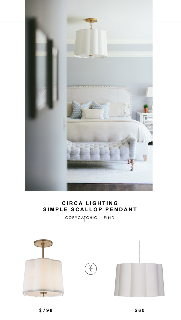 Circa Lighting Simple Scallop Pendant for $798 vs Target Pillowfort Scalloped Ceiling Light for $60 copycatchic luxe living for less budget home decor