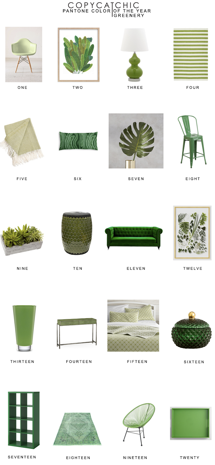 Home Trends | Our favorite pantone greenery home decor & furnishings for St. Patricks Day copycatchic luxe living for less budget home decor and design