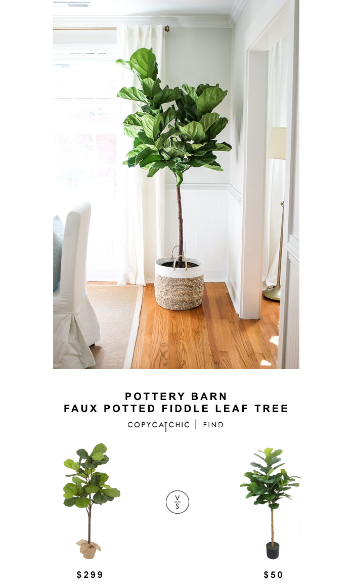 pottery barn faux potted fiddle leaf tree - copycatchic