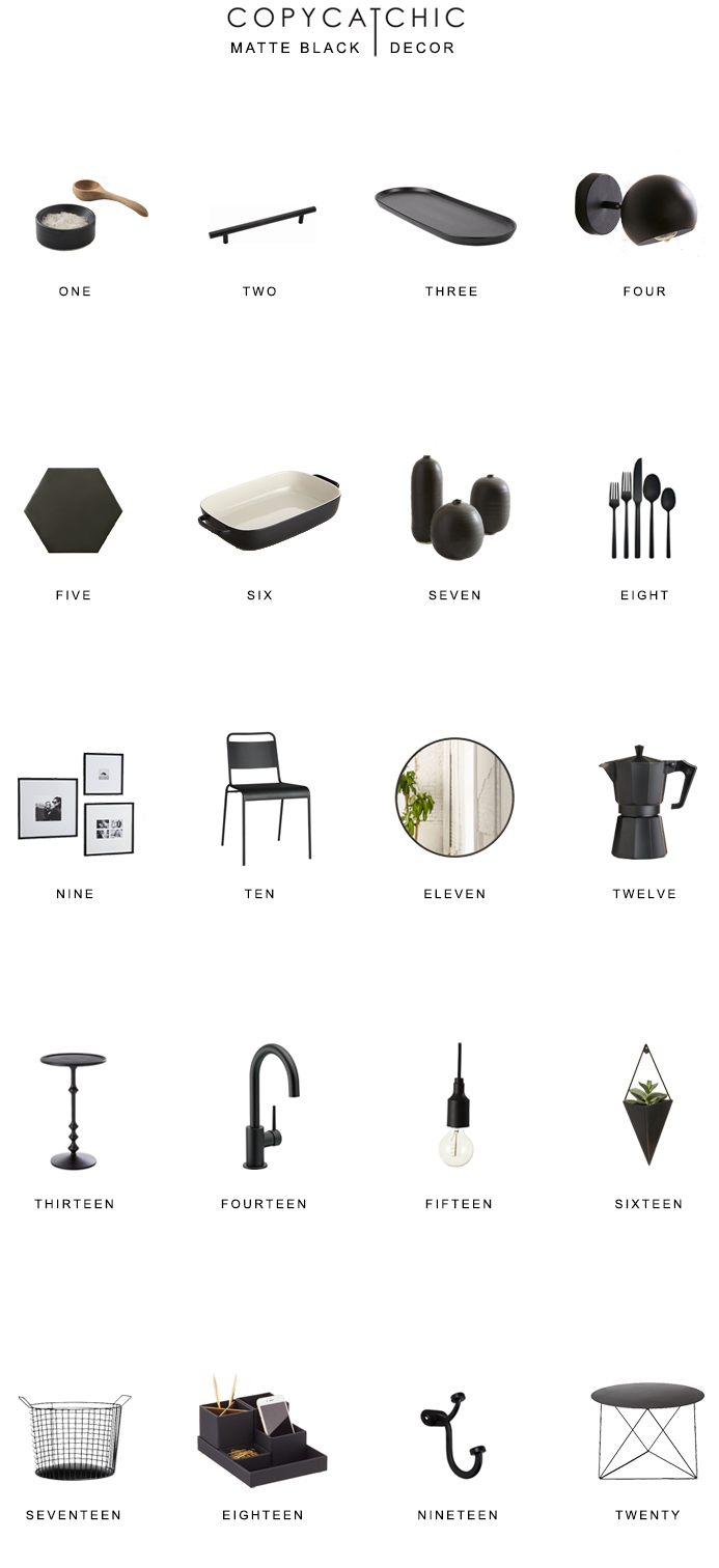 Home Trends  Our favorite matte black home decor, finishes and fixtures. copycatchic luxe living for less budget home decor and design