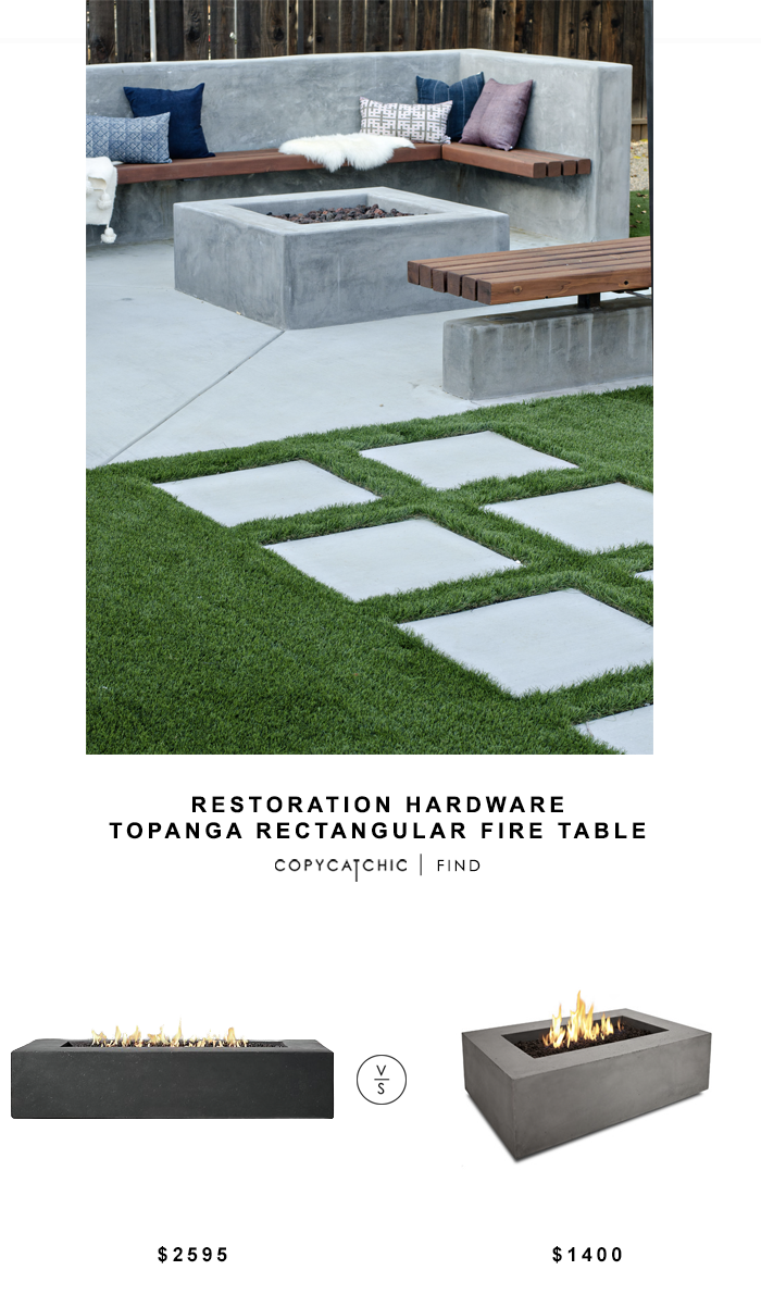 Restoration Hardware Topanga Rectangular Fire Table