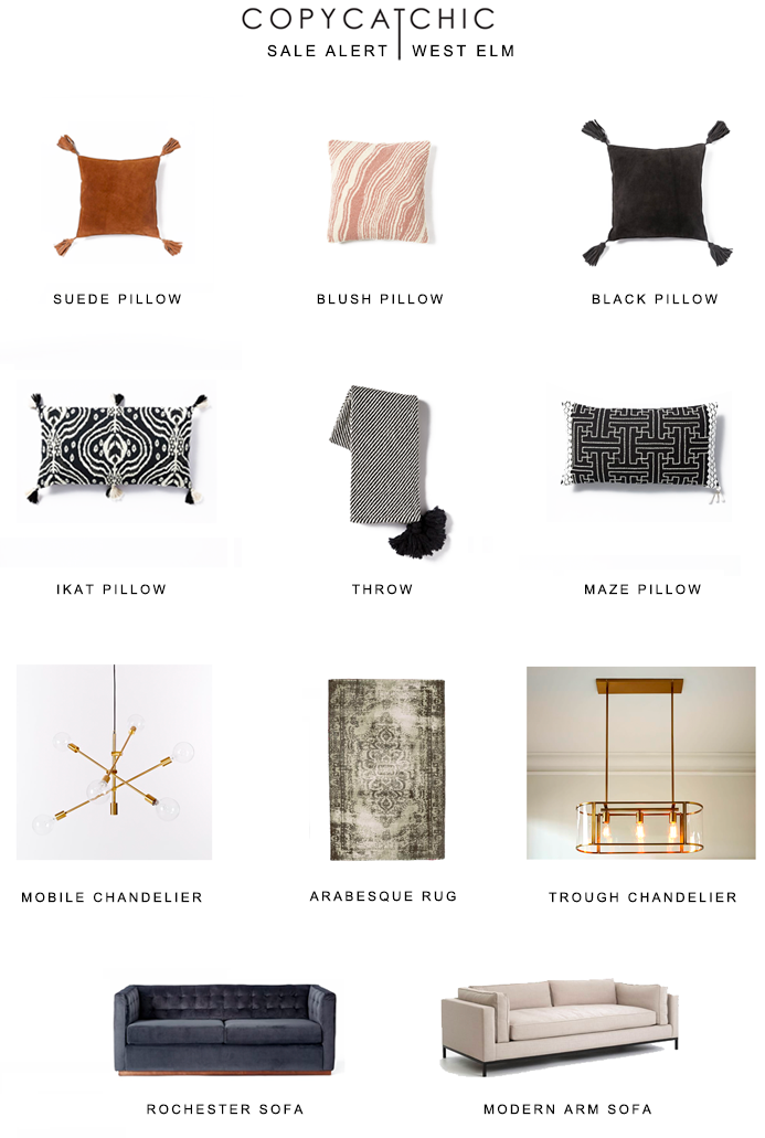 West Elm's Big Deal Seating Sale 30% off sofas & rugs 20% off lighting | up to 70% off markdowns AND FREE SHIPPING | copycatchic luxe living for less