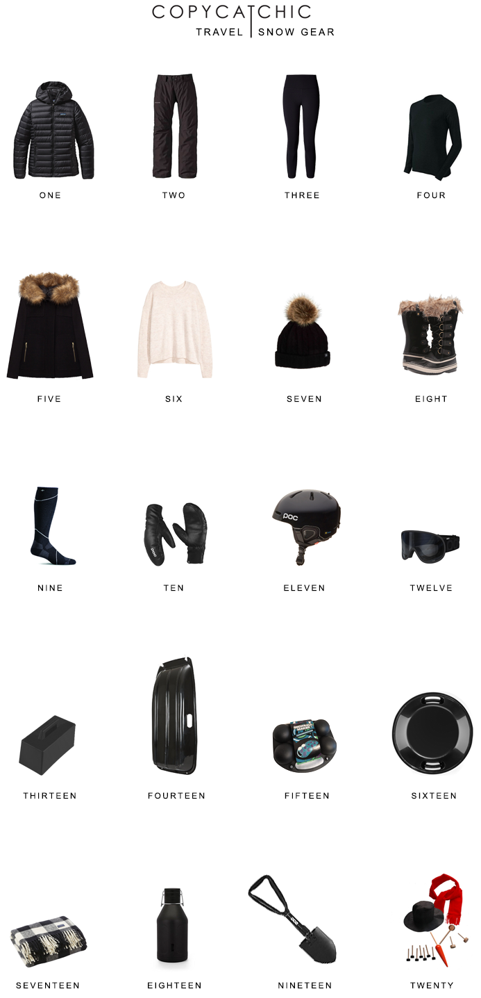 Modern and minimalist snow gear | What I pack when traveling to the snow | travel by copycatchic