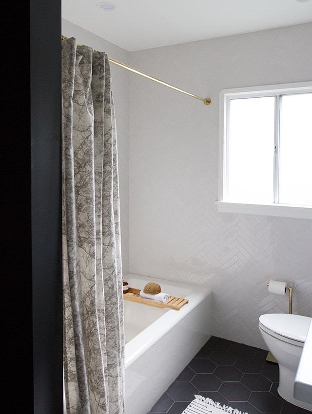 Ferm Living Marble Shower Curtain