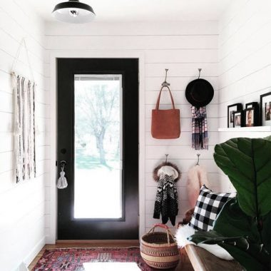 Anthropologie Black and White Wall Hook for $18 vs Black and Cream Striped Wall Hook for $10 copycatchic luxe living for less budget home decor and design