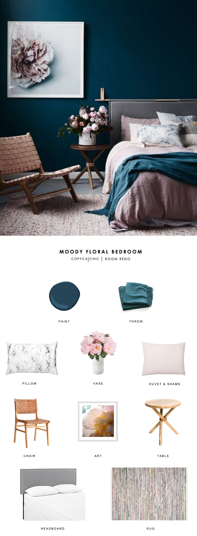 This gorgeous moody pink and teal bedroom gets recreated for less by copycatchic luxe living for less budget home decor and design room redo