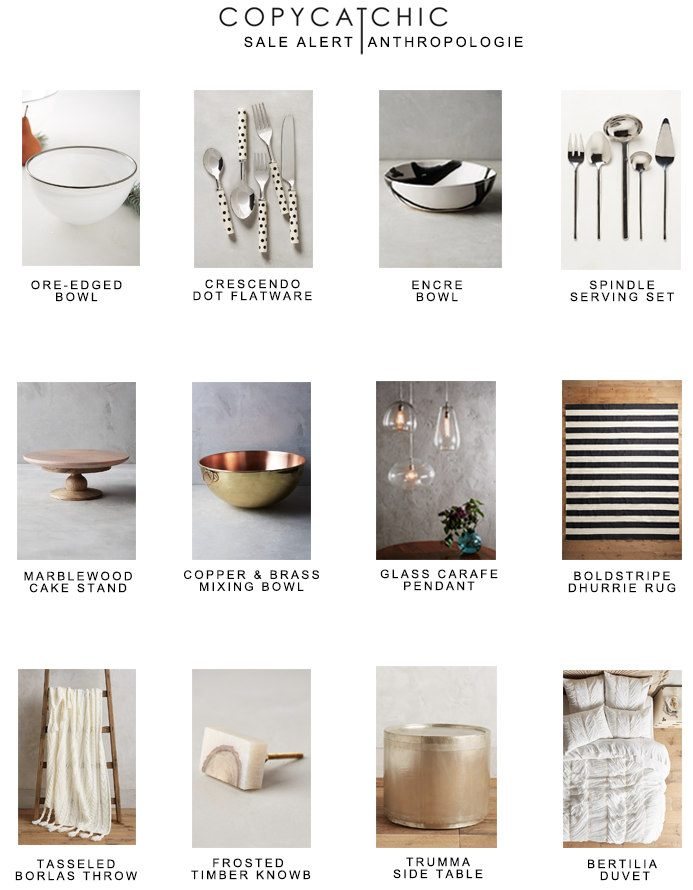 Our favorite picks from the Anthropologie 30% off sale items weekend! copycatchic luxe for less budget home decor and design
