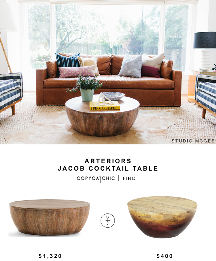 Arteriors Jacob Cocktail Table for $1320 vs Pier 1 Avani Coffee Table for $400 copycatchic luxe living for less budget home decor and design looks for less