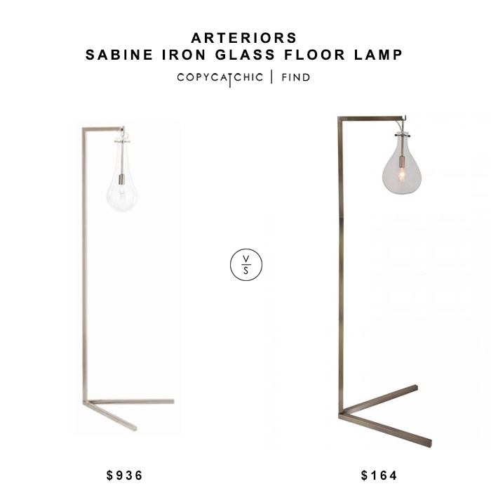 Arteriors Sabine Iron Glass Floor Lamp for $936 vs Home Decorators Cloister Floor Lamp for $164 copycatchic luxe living for less budget home decor & design