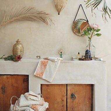 Anthropologie Balinese Tassel Basket
