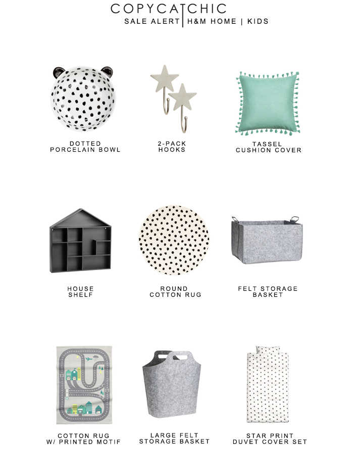 Sale Alert | H&M Kids Home | Mid-Season Sale + Free Shipping with Code 0040 | copycatchic luxe living for less budget home decor and design looks for less