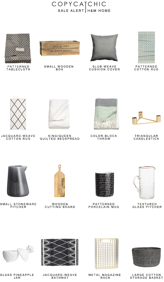 Sale Alert   H&M Home   Mid-Season Sale + Free Shipping with Code 0040   copycatchic luxe living for less budget home decor and design looks for less