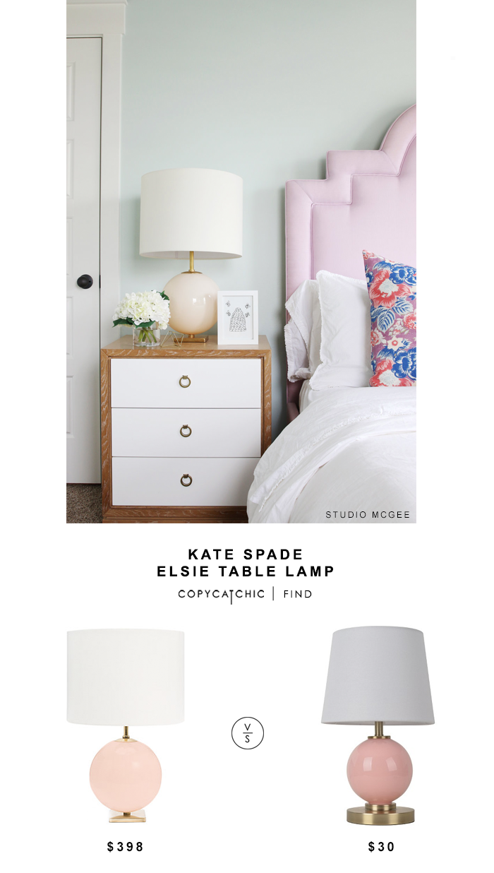 Kate Spade Elsie Table Lamp for $398 vs Target Pillowfort Glass Table Lamp Pink $30 copycatchic luxe living for less budget home decor and design