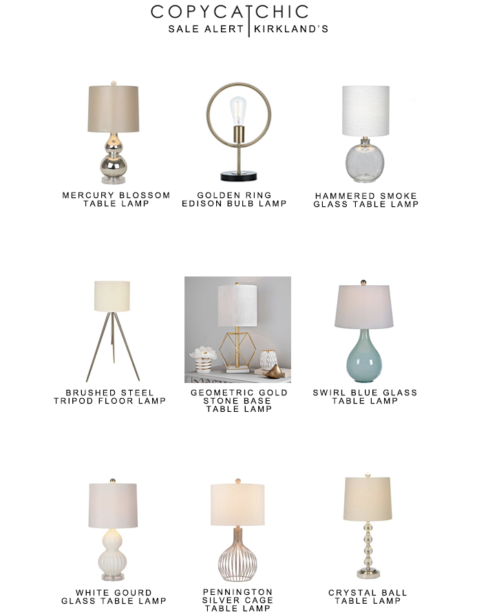 Kirklands Table Lamps Awesome Sale Alert Kirkland's Copycatchic