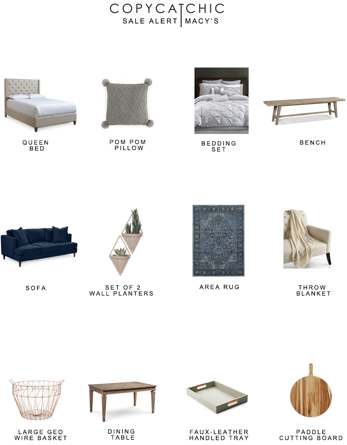 Our favorite close out home furnishings and decor from Macy's one day sale! copycatchic luxe for less budget home decor and design