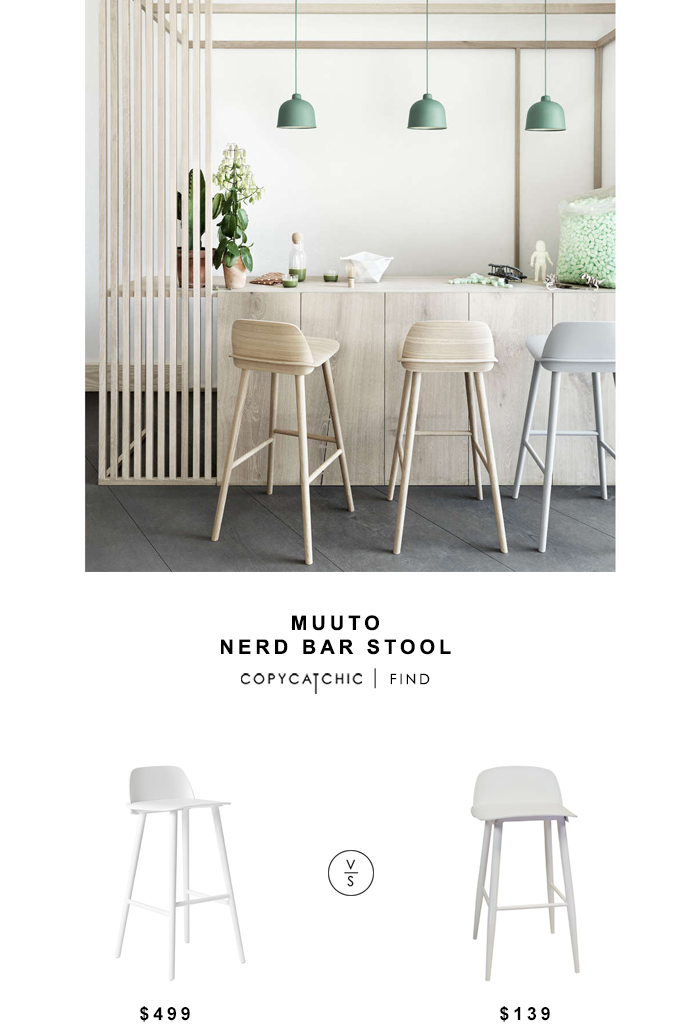 Muuto Nerd Bar Stool for $499 vs Design Tree Home Soco Bar Stool for $139 copycatchic luxe living for less budget home decor and design