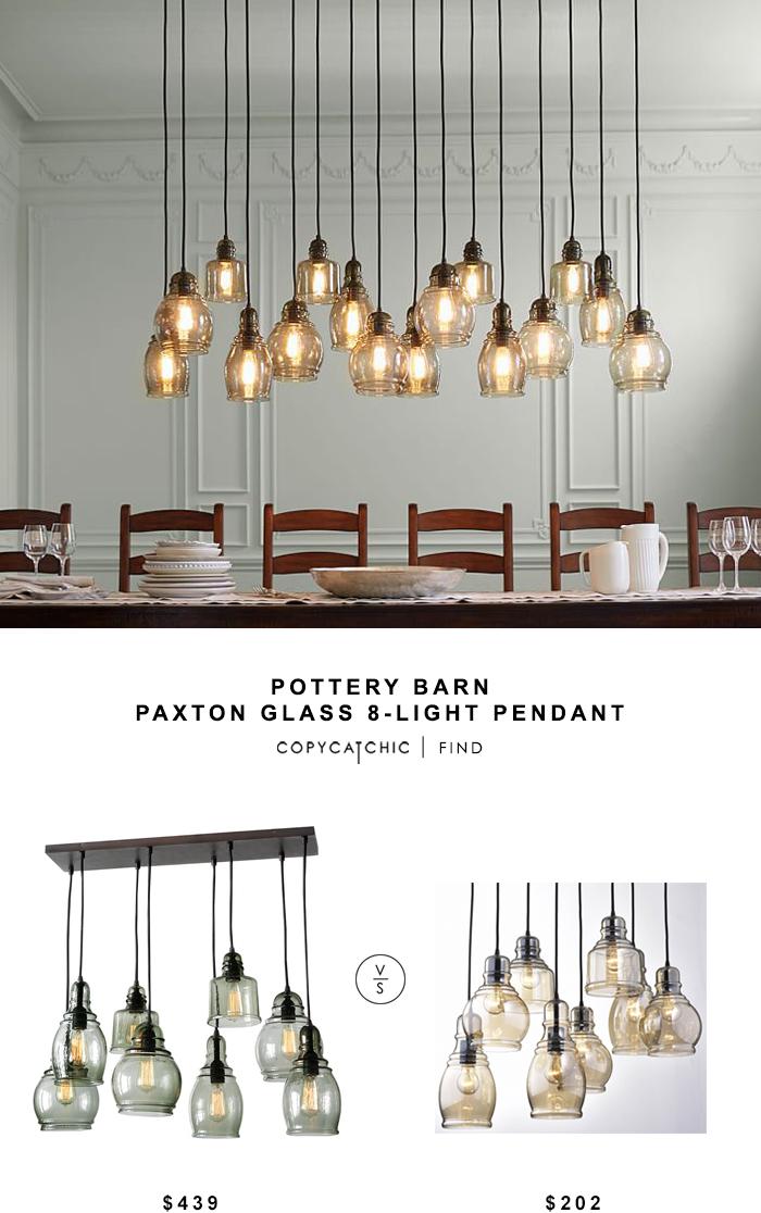 Pottery Barn Paxton Gl 8 Light Pendant