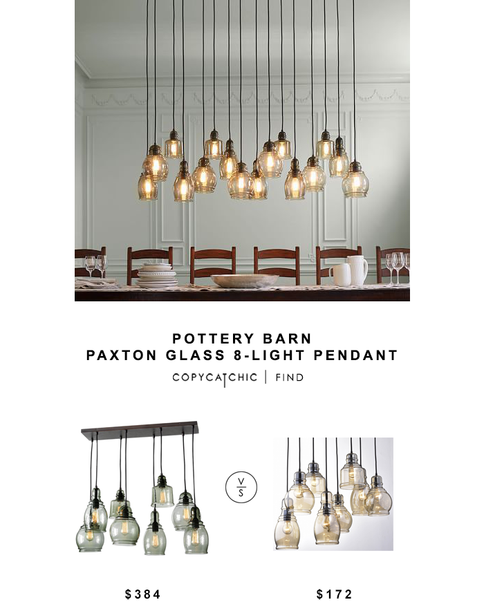Pottery Barn Paxton Gl 8 Light Pendant