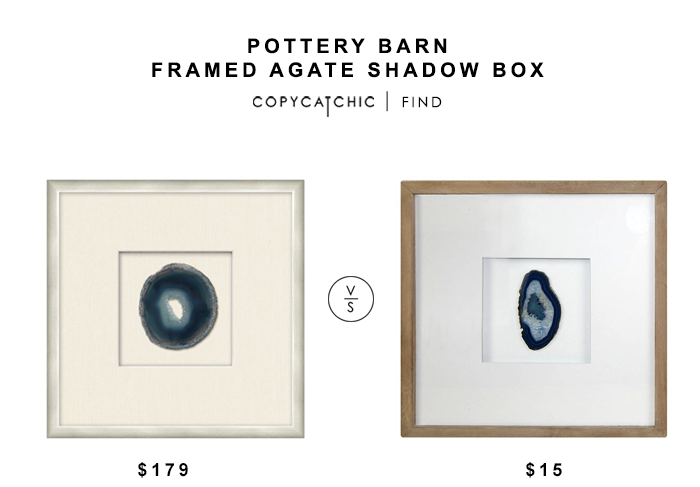 Pottery Barn Framed Agate Shadow Box for $179 vs Target Agate Shadow Box for $15 copycatchic luxe living for less budget home decor and design look for less