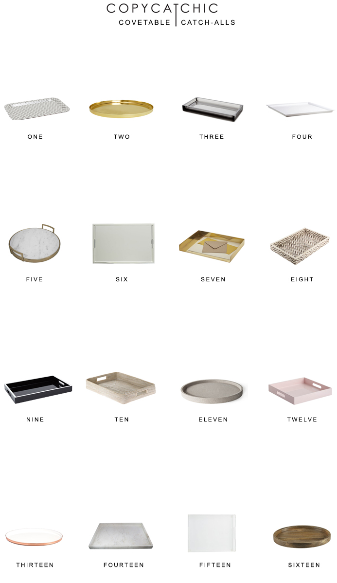 Home Trends: The most covetable catch-alls, trays and platters for your home. Fave decor picks by copycatchic luxe living for less budget home