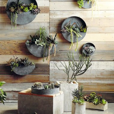 Terrain Divided Circle Wall Planter $38 vs Round Galvanized Wall Planter for $13 copycatchic luxe living for less budget home decor and design
