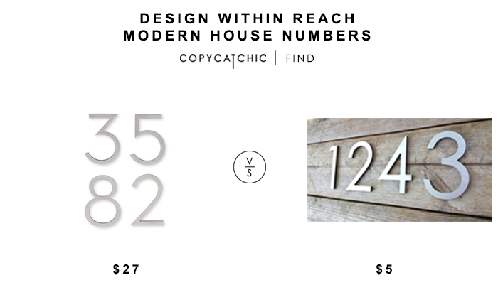 Design Within Reach Modern House Numbers Copycatchic