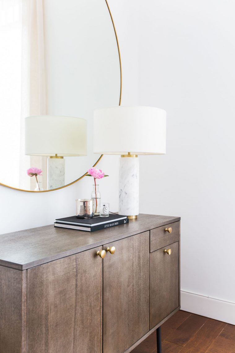 West Elm Marble Pillar Table Lamp for $229 vs Belk Cupcakes and Cashmere Marble Column Table Lamp for $84 copycatchic luxe living for less budget home decor