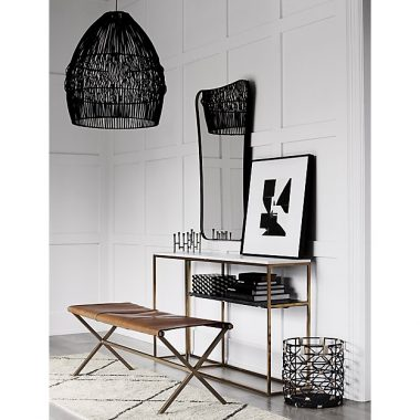 CB2 Archer Black Pendant Light