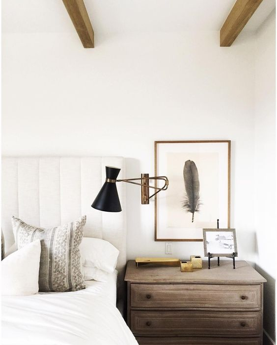 Wall Sconces Urban Outfitters: Neutral Transitional Bedroom