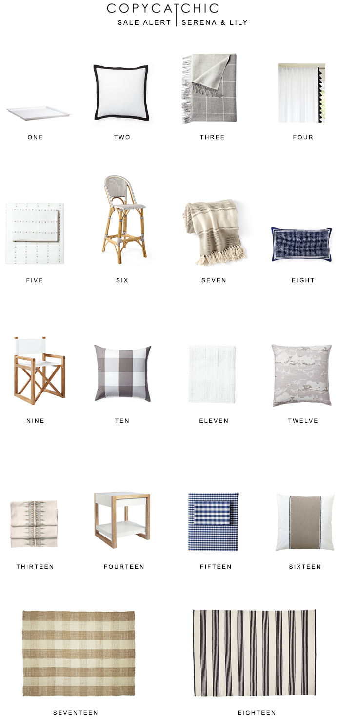 Sale Alert Serena & Lily 60% off and free shipping off all sale items with code HELLOSPRING copycatchic luxe living for less budget home decor and design