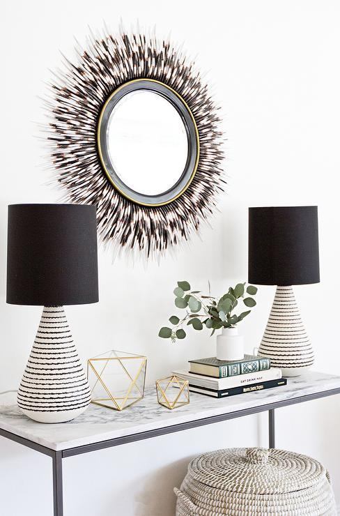 Houzz Eilwyn Console Table for $841 vs STructube Marble Console Table for $249 copycatchic luxe living for less budget home decor and design looks for less
