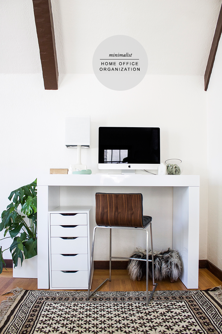 Modern minimalist home office organization and smart tech by Reichel Broussard and PayPal | Copy Cat Chic | luxe living for less budget home decor and design