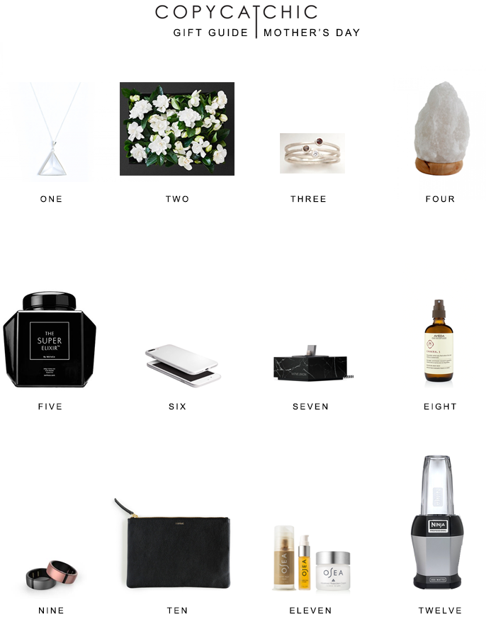 Modern minimalist gift ideas for Mothers Day. Gift guide Copy Cat Chic hipster favorites for the Moms in your life! | Luxe living for less