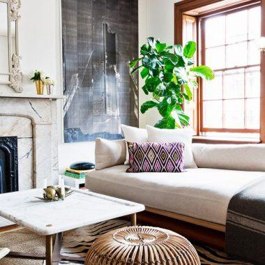 Franco Albini Ratton Ottoman for $605 vs The Company Store Santa Rosa Rattan Ottoman for $299 copycatchic luxe living for less budget home decor and design