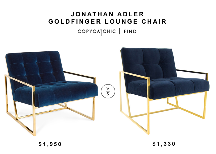 ... Jonathan Adler Goldfinger Lounge Chair For $1950 Vs Modshop Santorini  Arm Chair For $1330 Copycatchic Luxe