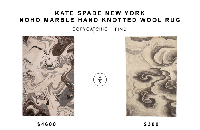Kate Spade New York Noho Marble Hand Knotted Wool Rug for $4600 vs Liora Manne Wool Area Rug for $300 copycatchic luxe living for less budget home decor