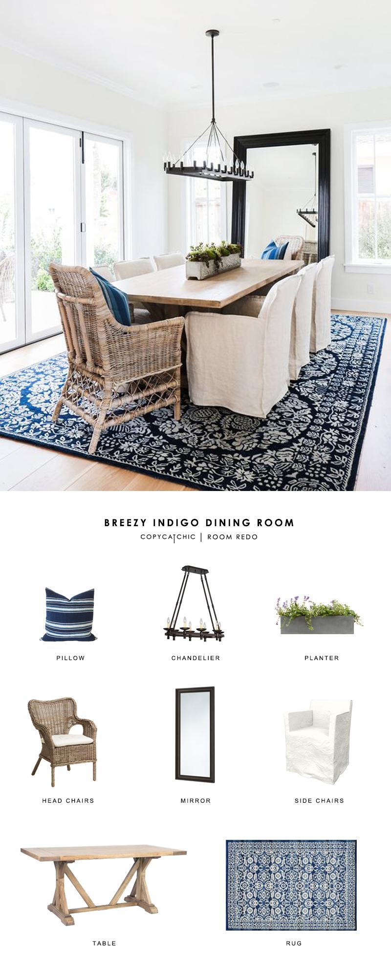 Copy cat chic room redo breezy indigo dining room for Modern home decor for less
