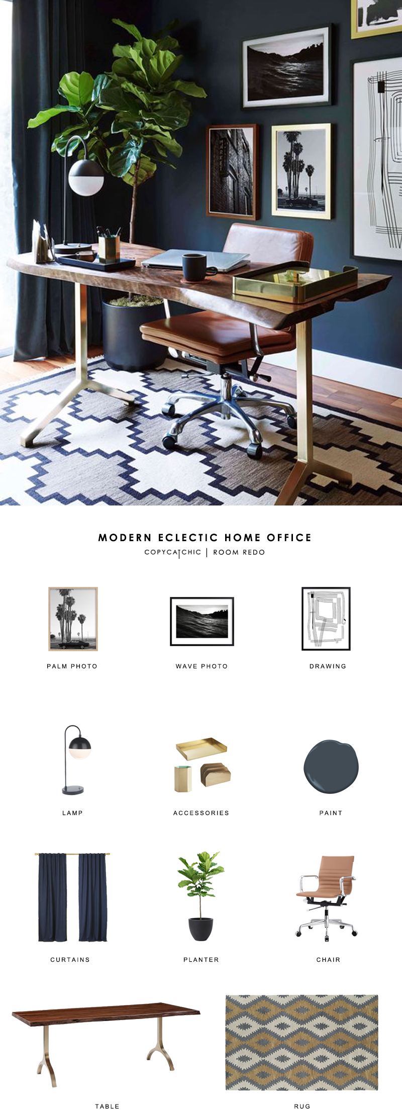 Copy Cat Chic Room Redo Modern Eclectic Home Office