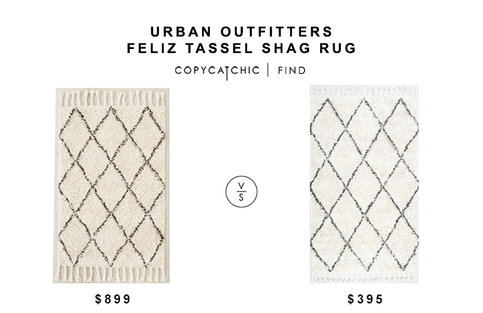 Urban Outfitters Felize Tassel Shag Rug for $899 vs Nuloom Venice Collection Moroccan Rug for $395 copycatchic luxe living for less budget home decor design