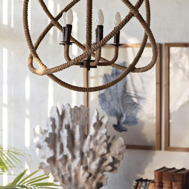 Shades of Light Rope Sphere Chandelier for $750 vs Wayfair Colson Rope-Enclosed Chandelier for $330 copycatchic luxe living for less budget home decor