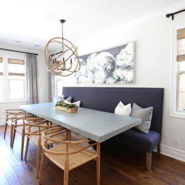 Copy Cat Chic Room Redo | Rustic Modern Dining Room